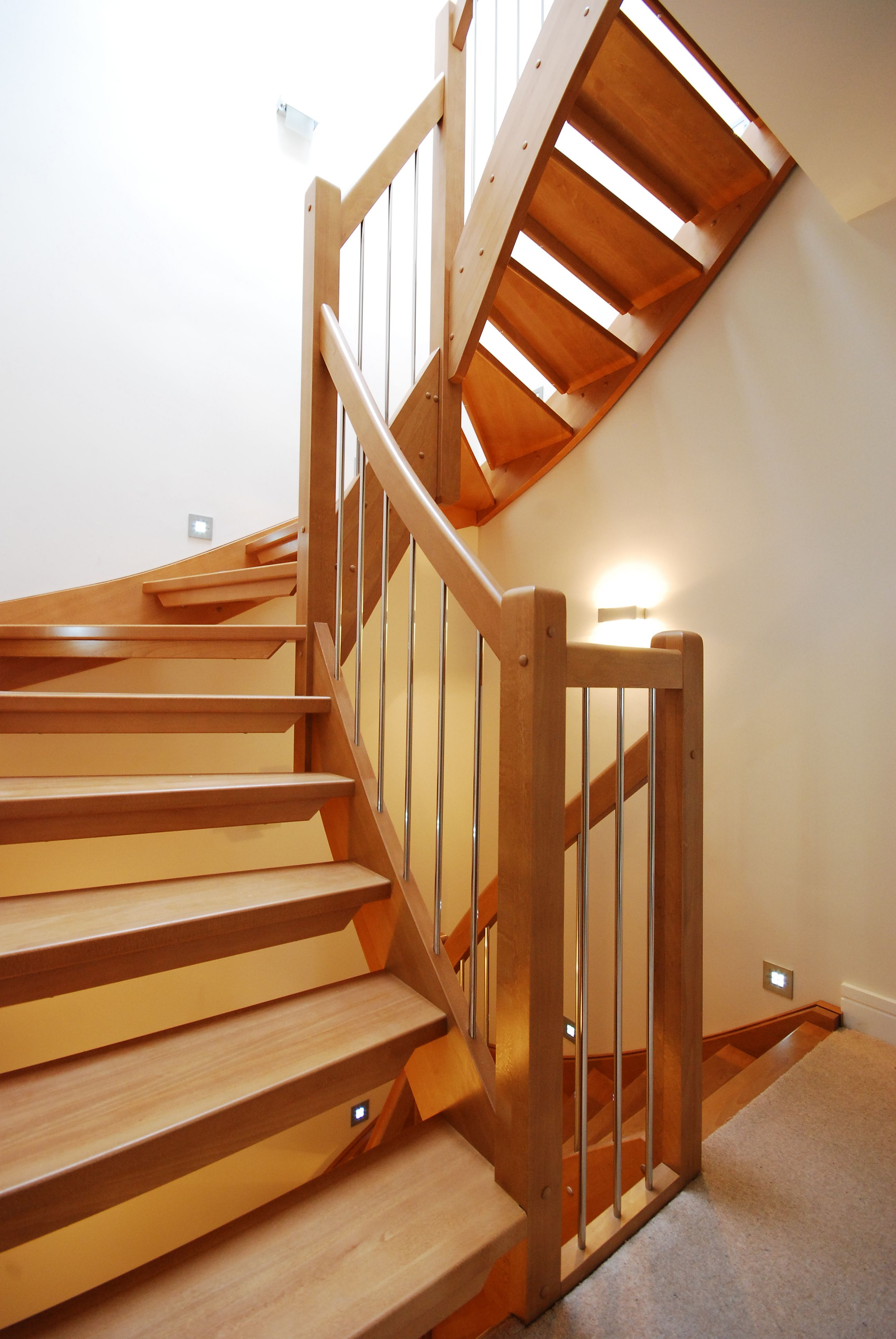 Half Turn Beech Stair 1 Spiral Staircases And Staircases
