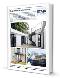Bespoke External Spiral Staircase Product Sheet Download