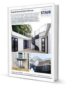 Bespoke External Spiral Staircase Product Sheet Download