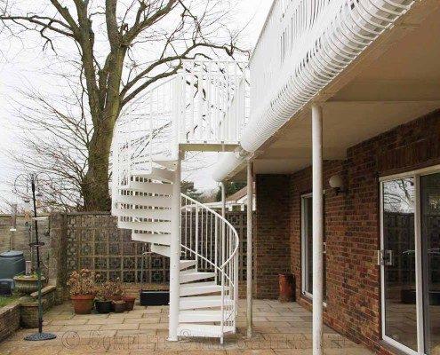 Bespoke Spiral Staircase Canterbury - External Spiral