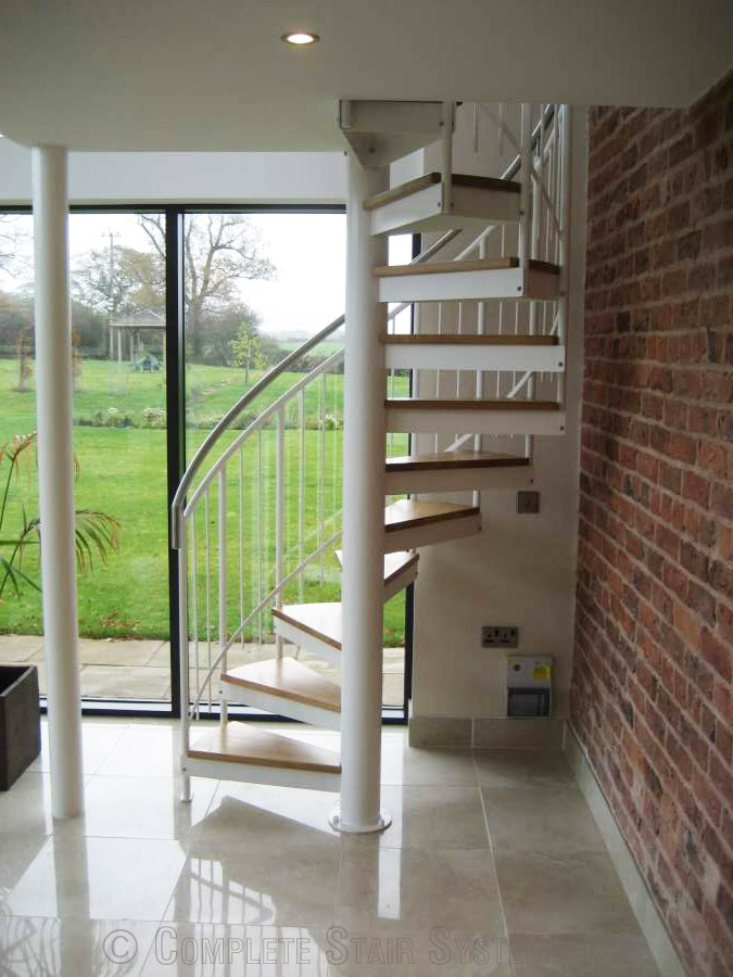Bespoke Spiral Staircase Chester Accessing A Mezzanine Floor