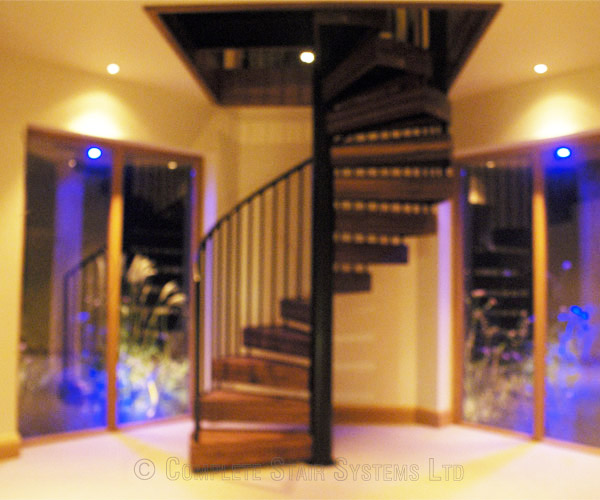 Spiral Staircase Chichester With Solid Walnut Treads