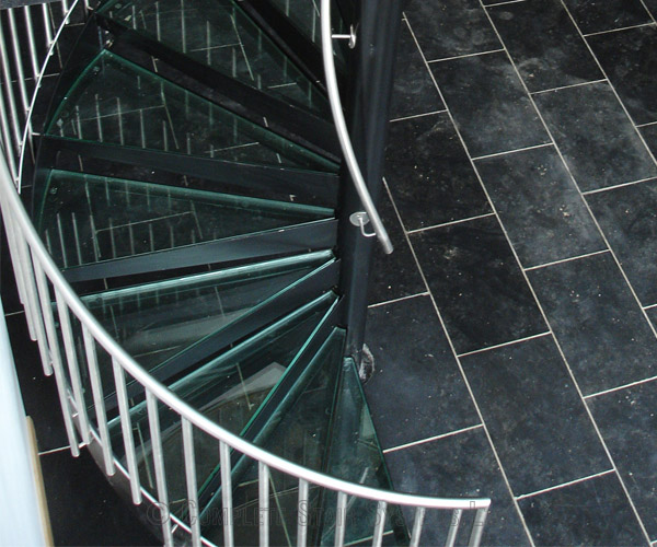Bespoke Spiral Staircase Essex A Glass Tread Spiral Stair