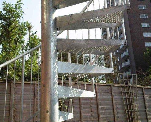 Bespoke Spiral Staircase London - External Spiral