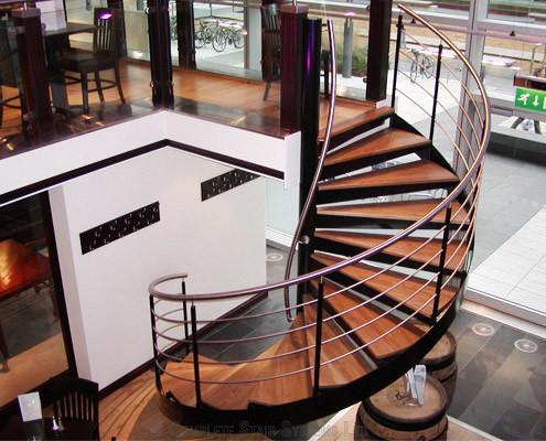 Bespoke Spiral Staircase - London Wine Bar