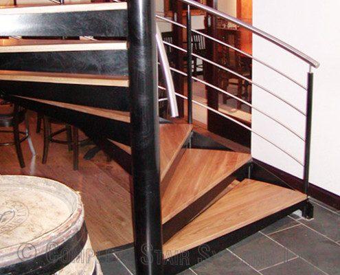 Bespoke Spiral Staircase - London Wine Bar 5