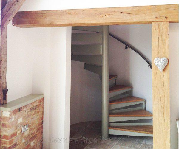 Bespoke Spiral Staircase Norwich Oak Treads Amp Glass