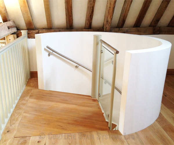 Stair treads ask home design for Enclosed staircase design