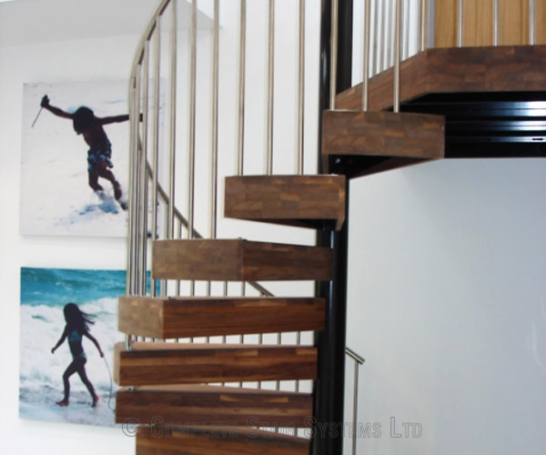 Walnut Stair Treads Uk: Spiral Staircase Penn, High Wycombe With Chunky Walnut Treads