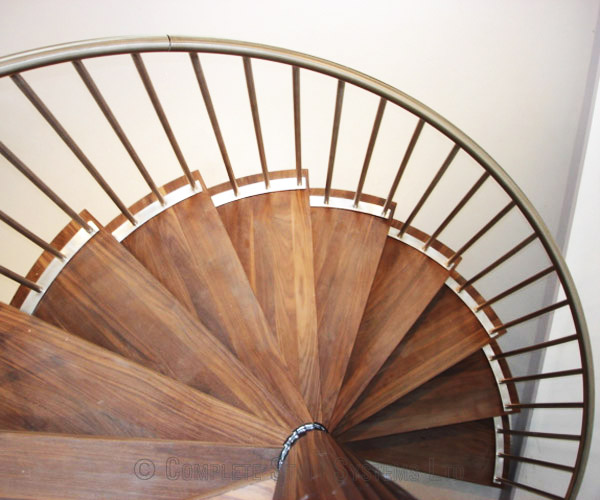 Spiral Staircase Penn High Wycombe With Chunky Walnut Treads