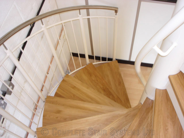 Bespoke Spiral Staircase Romsey With Oak Treads