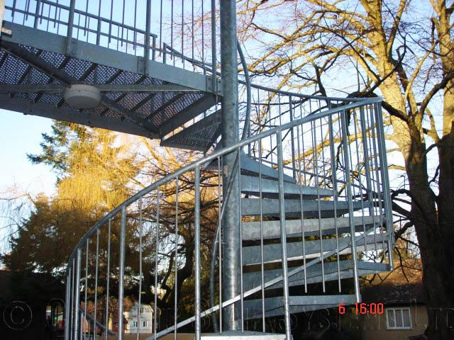 Bespoke Spiral Staircase Romsey - External Spiral