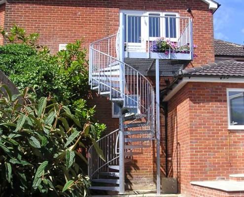 Bespoke Spiral Staircase Southampton - External Spiral