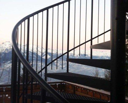 Bespoke Spiral Staircase Switzerland - External Spiral