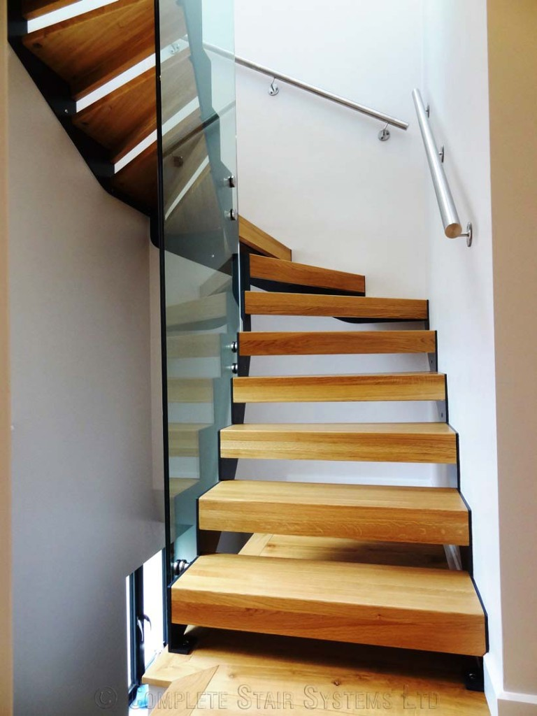 Bespoke Staircase Chiswick With Oak Treads Click To View
