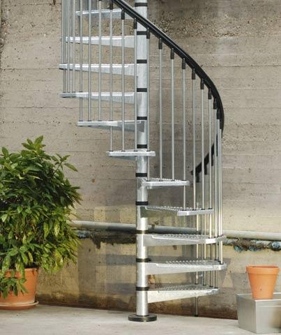 civik zink spiral staircase kit spiral for external use