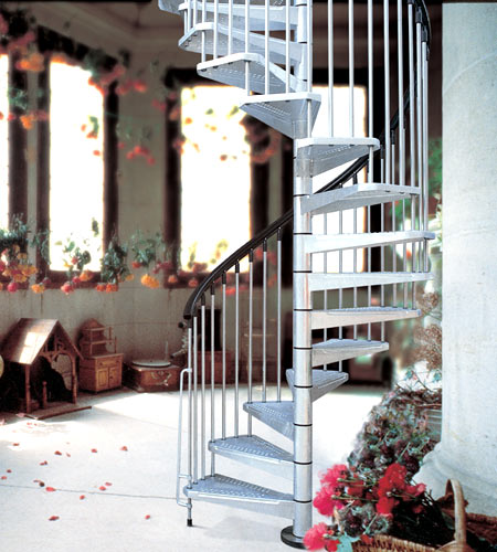 Civik Zink Spiral Staircase Kit Spiral For External Use