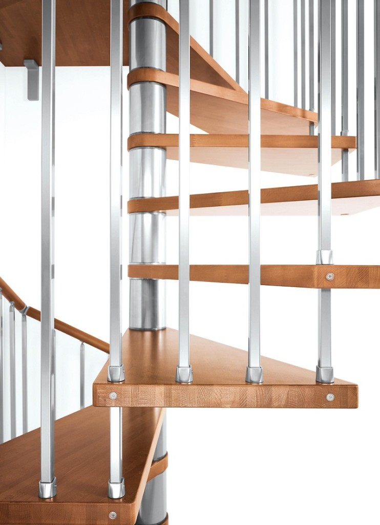 Genius spiral staircase genius 020 with vertical steel for Spiral staircase square
