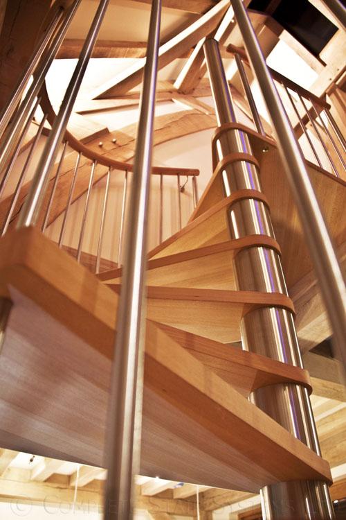 Spiral Staircase Guernsey Bespoke Wooden Spiral Stair