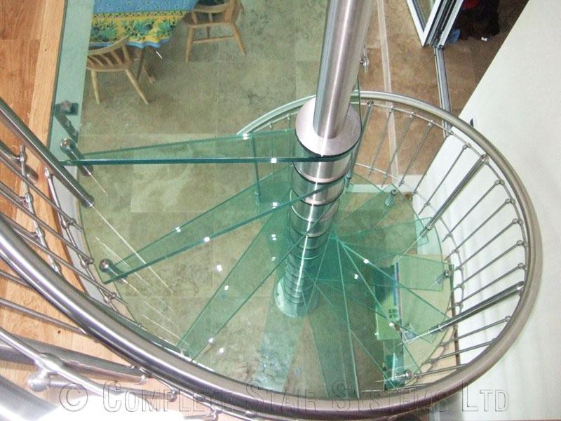 Spiral Staircase Guernsey Bespoke Spiral Stair In Glass