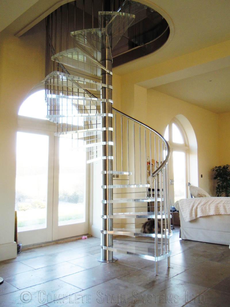 Spiral Staircase Nottingham Bespoke Acrylic Tread Spiral