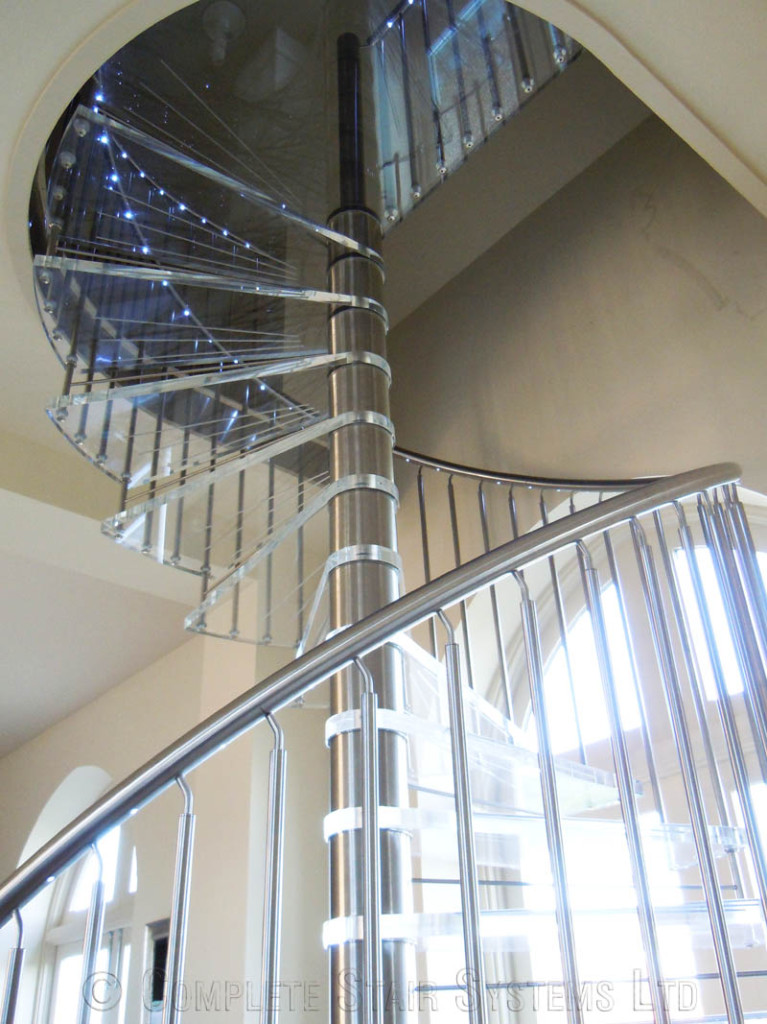 Spiral Staircase Nottingham Bespoke Acrylic Tread Spiral