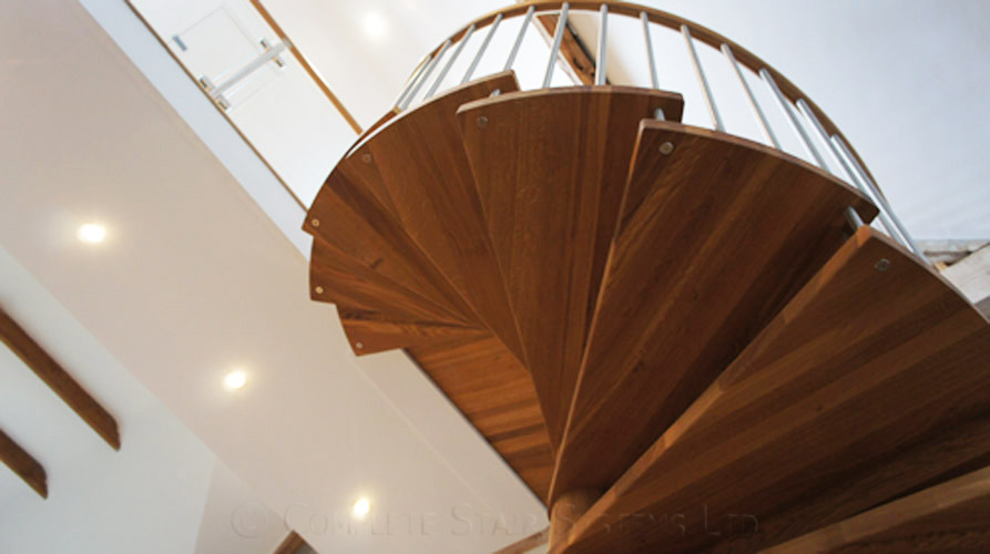 Spiral Staircase Romsey With Solid Oak Treads Amp Oak Centre
