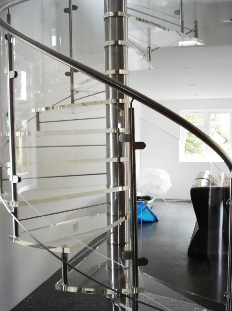 Spiral Staircase Romsey Bespoke Acrylic Treads With
