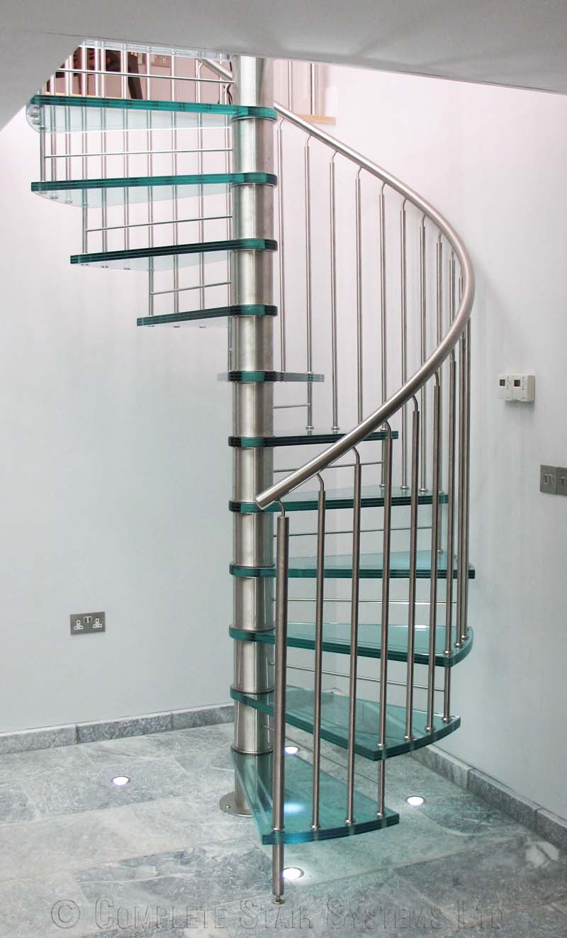 Spiral staircase suffolk a bespoke glass tread spiral Spiral stair cad