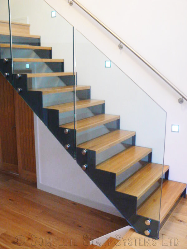 Bespoke Modern Staircase Guildford With Glass Balustrade