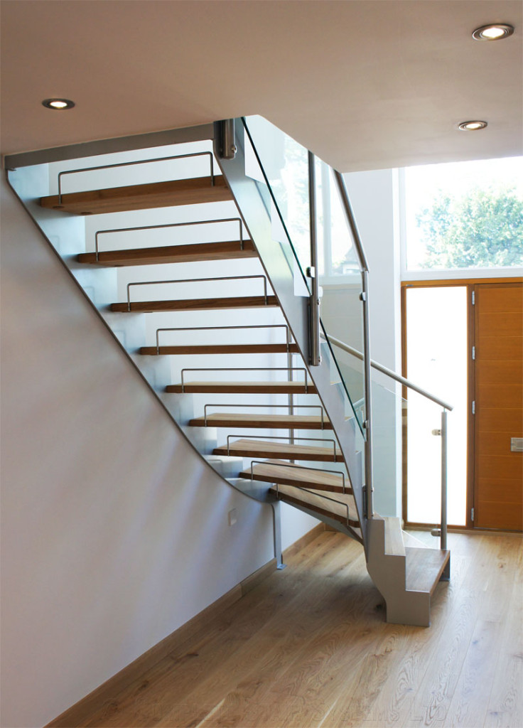Bespoke Staircase Staines In A Quarter Turn Steel And