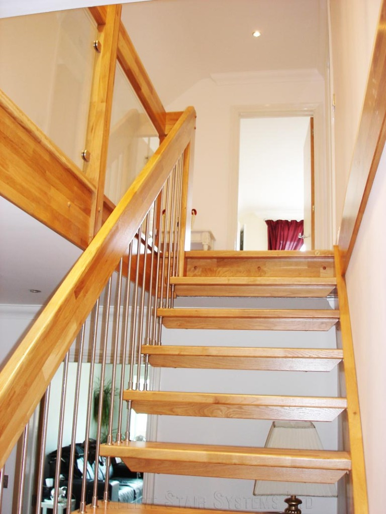 Bespoke Timber Staircase Floating Oak Treads And