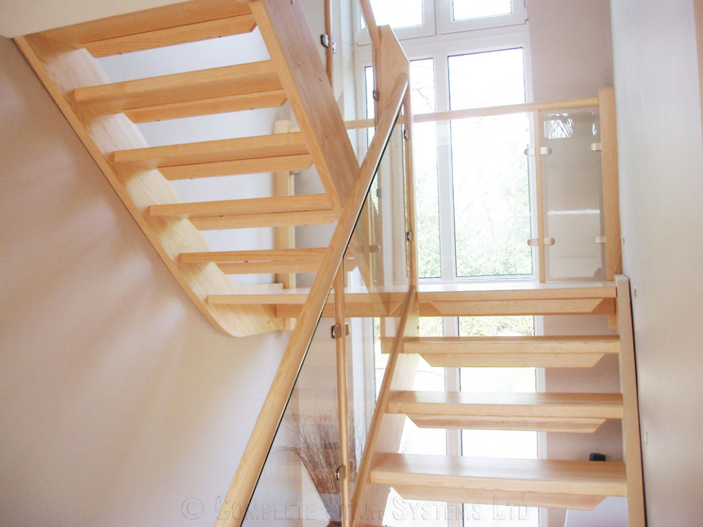 Timber Staircase Cambridge A Project With A Maple Half Turn