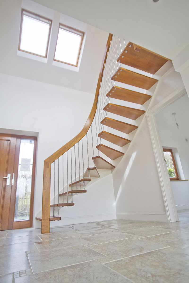 Timber Staircase Ringwood In A Floating Style In Beech