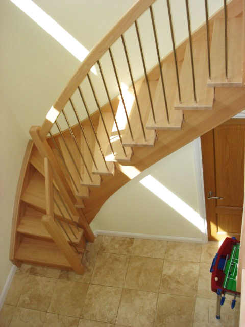 Bespoke Timber Staircase Salisbury With Closed Risers