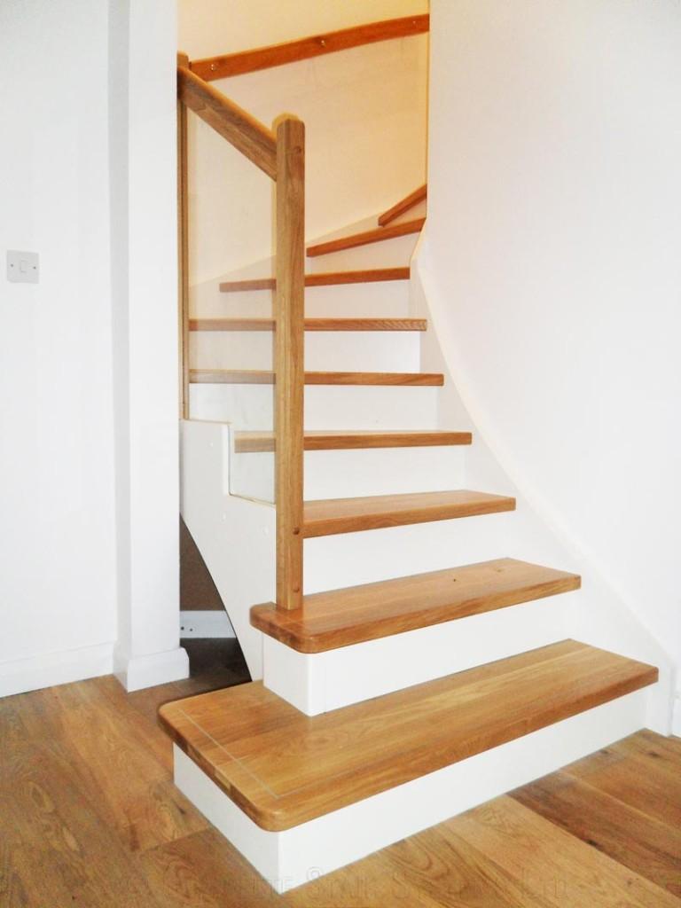Bespoke Timber Staircase Farnham With Oak Treads