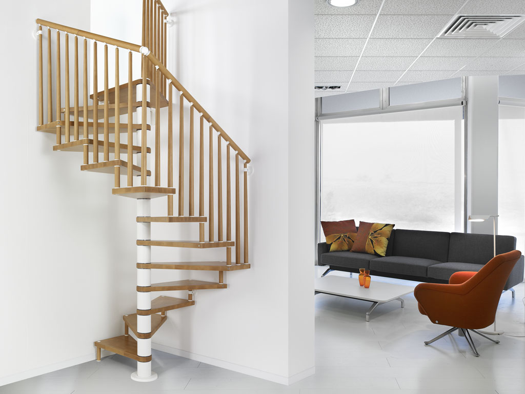 spiral staircase genius 070 a kit spiral in timber beech