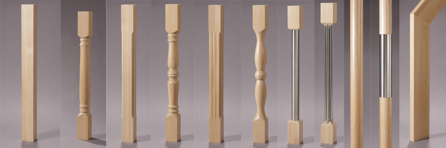 View Newel Post Options · View Spindle Options