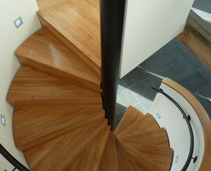 Oak Spiral Staircase