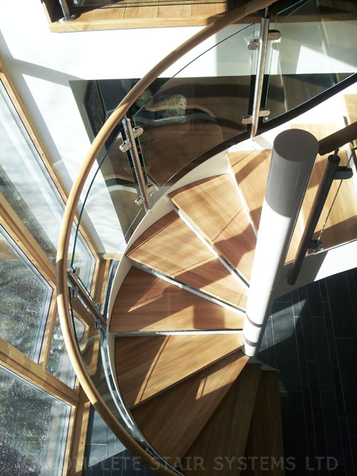 Spiral staircase scotland ullapool project with curved for Half spiral staircase