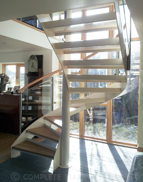 Spiral Staircase Scotland Ullapool Project With Curved