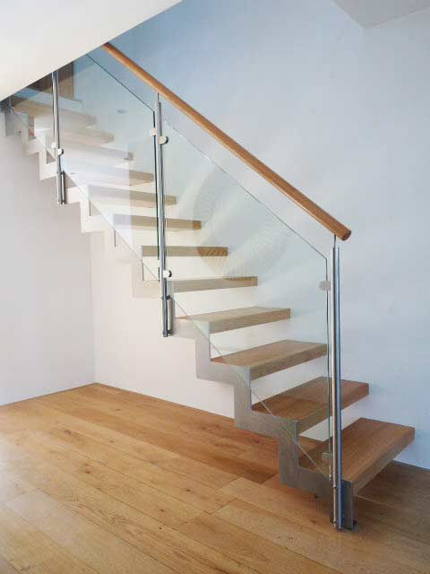 Bespoke Staircase Kingston With Floating Oak Treads