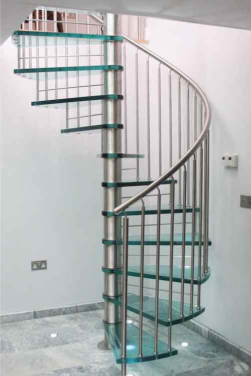 Glass Tread Spiral Staircases