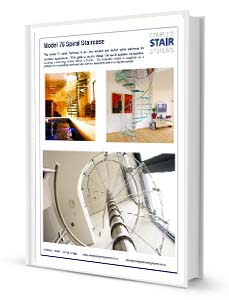 Model 76 Spiral Staircase Product Sheet