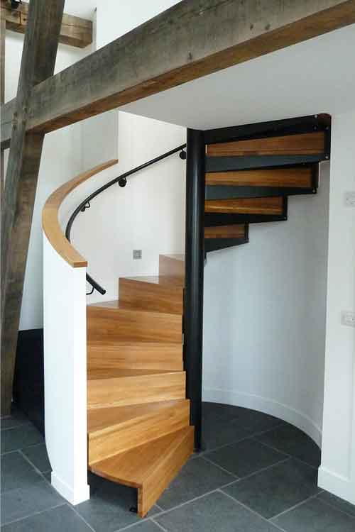 Oak Tread Spiral Staircases