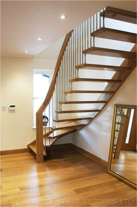 Modern staircase botley spiral staircases and staircases for Half spiral staircase
