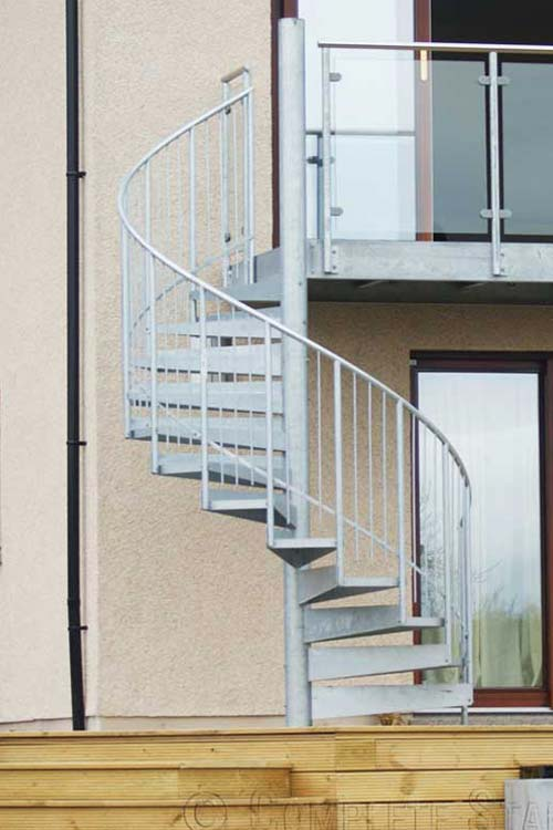 Staircase Regulations Uk >> External Spiral Staircase | Outdoor Spiral Staircase in ...
