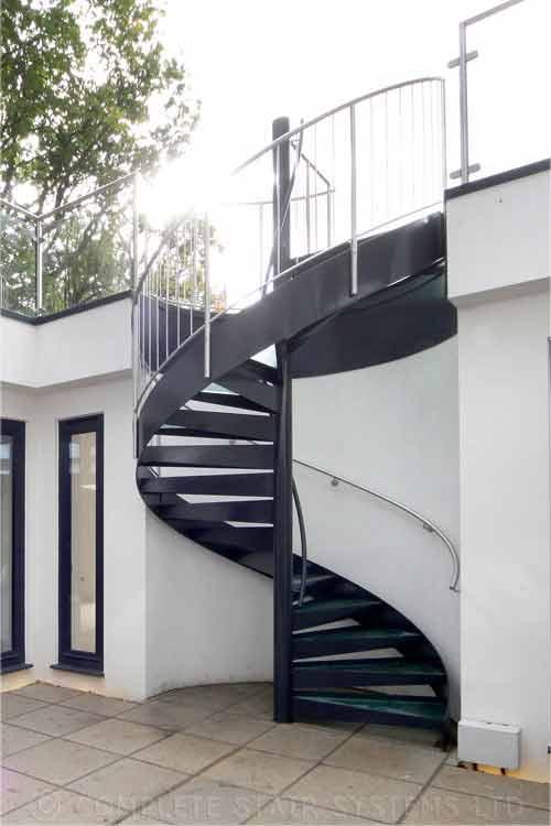 External Spiral Staircase Outdoor Spiral Staircase In