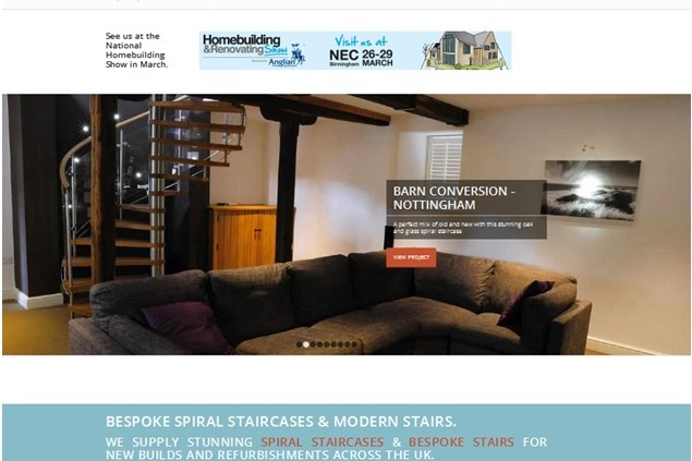 Staircase Website homepage