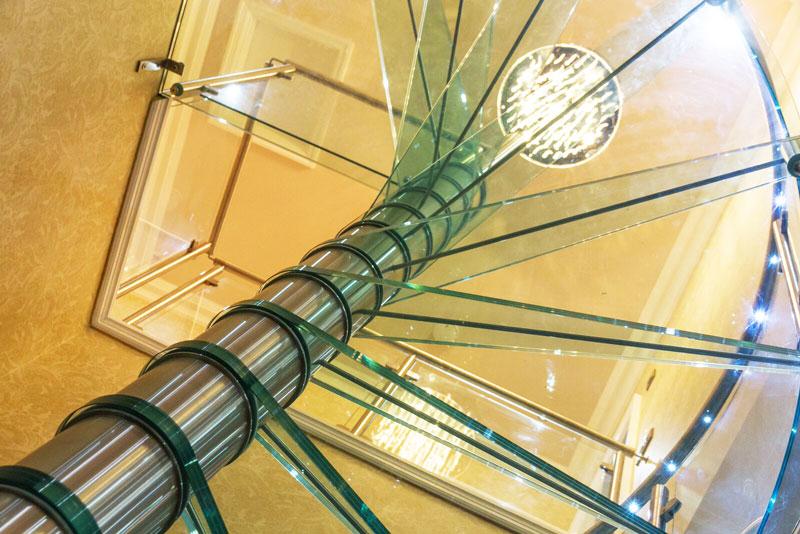 LED light in handrail